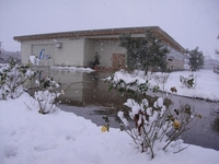 Osato Laboratory Covered With Snow