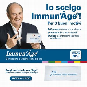 A famous Italian TV presenter, Gerry Scotti as new testimonial of Immun' Âge®!
